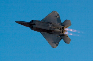F22 Raptor fighter plane in flight